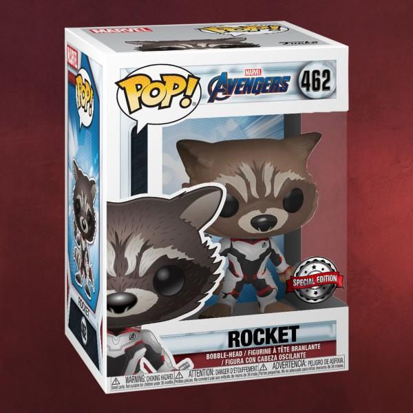 Avengers - Rocket Endgame Funko Pop Wackelkopf-Figur exklusiv