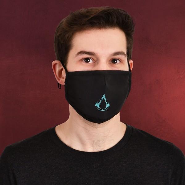 Assassin's Creed - Valhalla Logo Gesichtsmaske schwarz