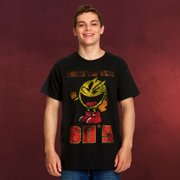 Pac-Man - Back to the 80's T-Shirt schwarz