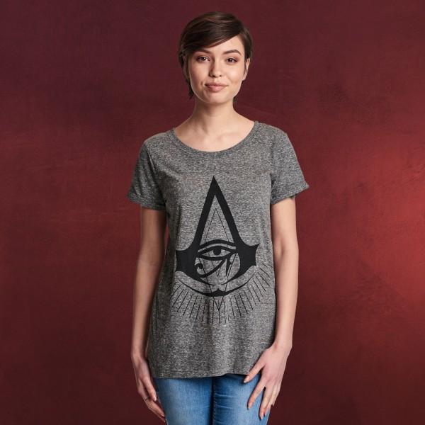 Assassins Creed - Origins Logo T-Shirt Damen grau