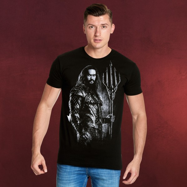 Aquaman T-Shirt Justice League schwarz