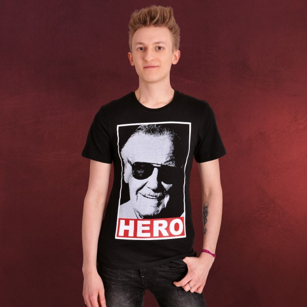 Stan Lee - Hero T-Shirt schwarz