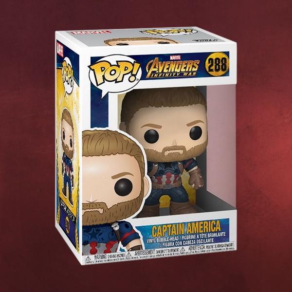 Avengers - Captain America Infinity War Funko Pop Wackelkopf-Figur
