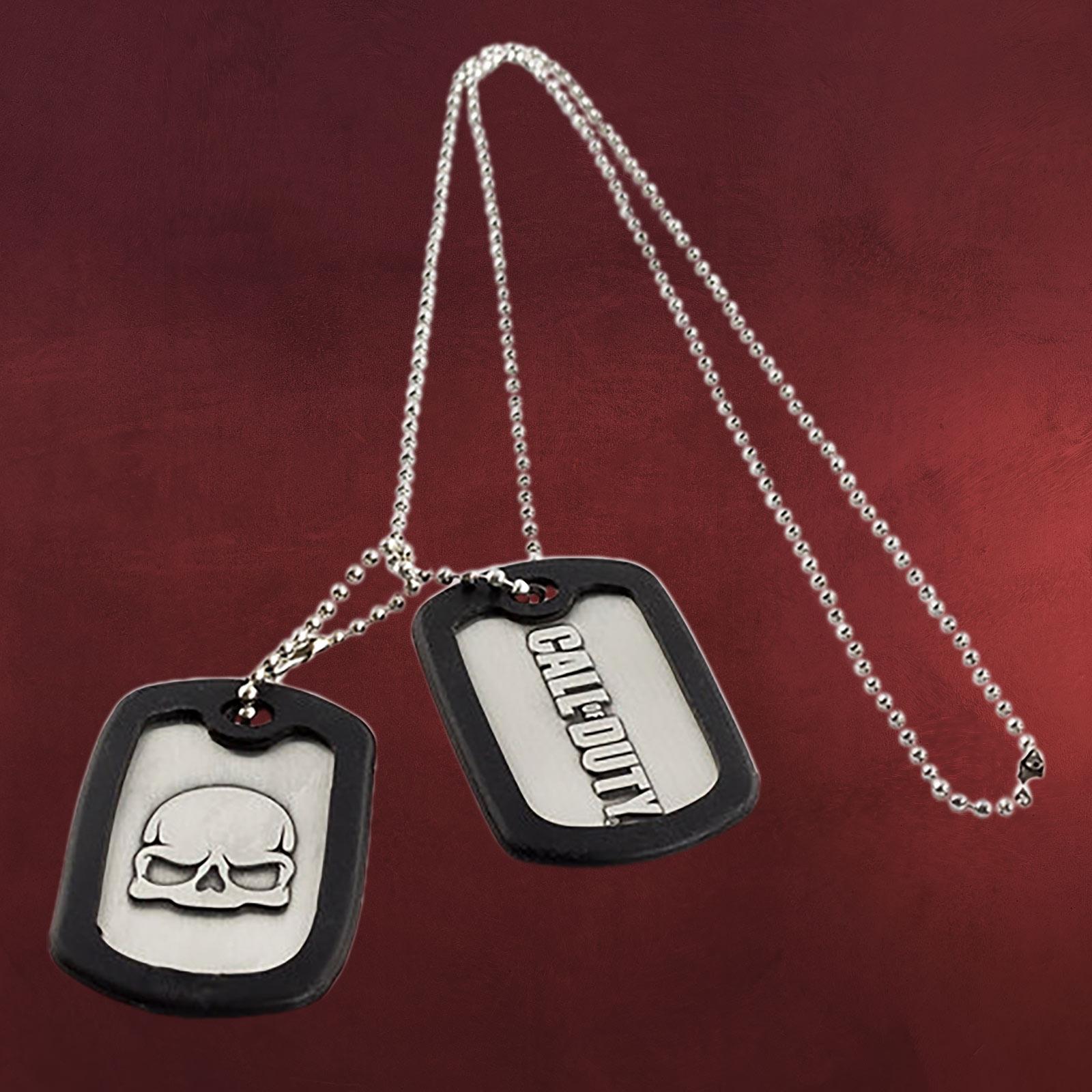 call of duty logo dog tag kette elbenwald. Black Bedroom Furniture Sets. Home Design Ideas