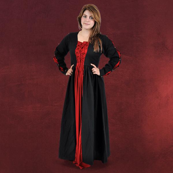 Mittelalter Kleid Orianne schwarz-rot