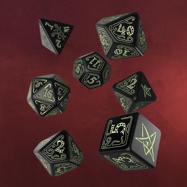 Call of Cthulhu Glow in the Dark RPG Würfel Set 7tlg schwarz