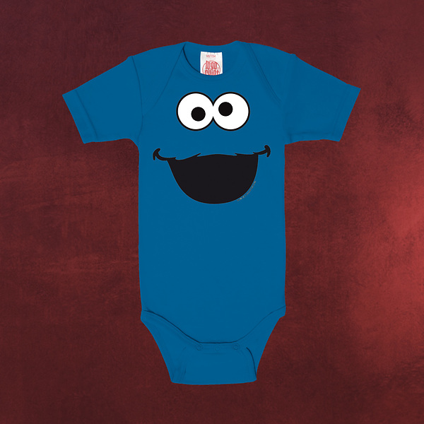 Sesamstraße - Cookie Monster Baby Body blau