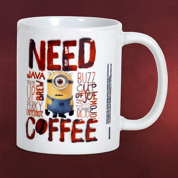 Ich - Einfach unverbesserlich - Minions Need Coffee Tasse