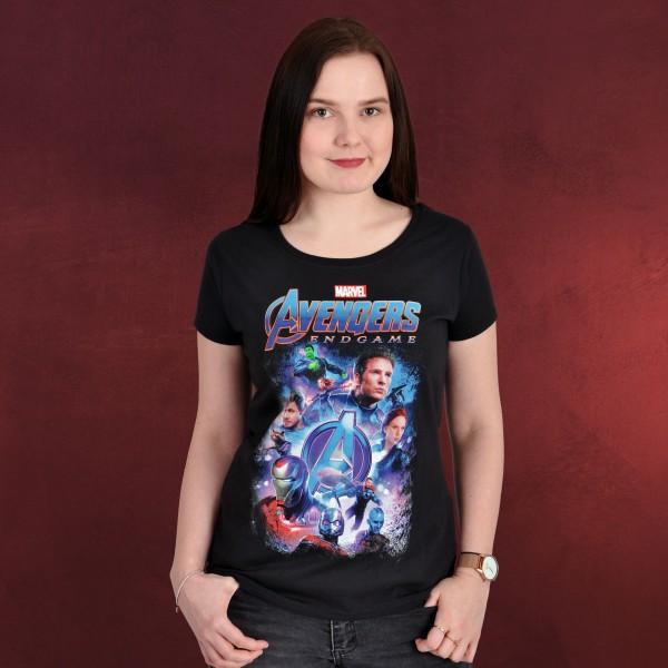Avengers - Endgame Collage T-Shirt Damen schwarz