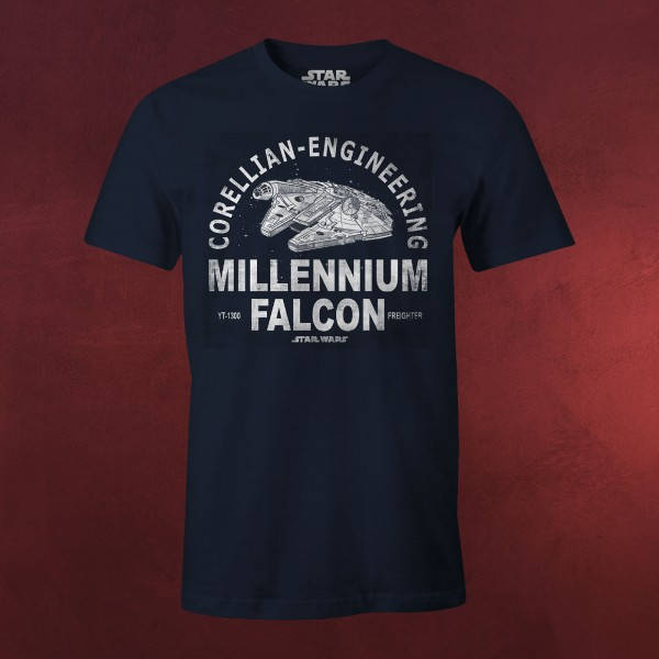 Star Wars - Millennium Falcon Corellian Engineering T-Shirt blau