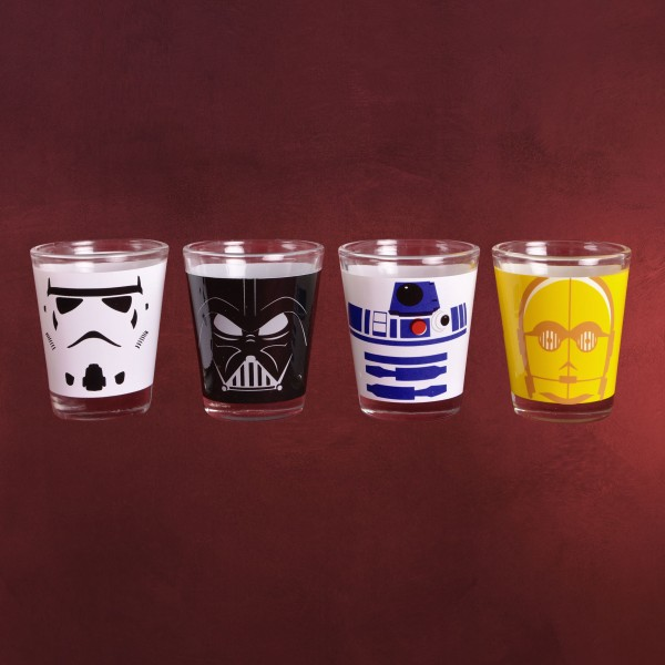 Star Wars - Characters Shots Gläserset
