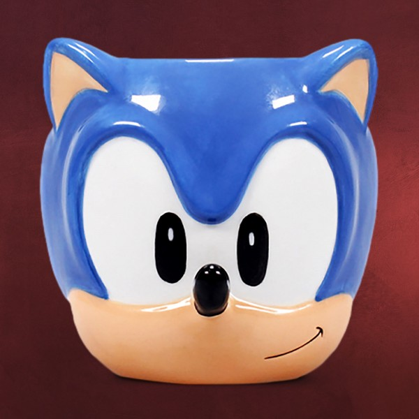 Sonic the Hedgehog - Face 3D Tasse