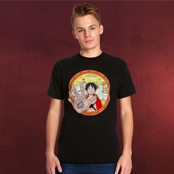 One Piece - Map Circle T-Shirt schwarz