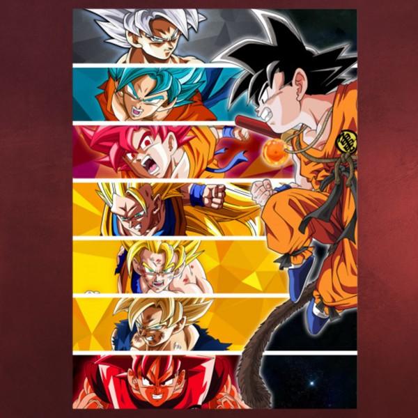 Goku Metall Poster für Dragon Ball Fans