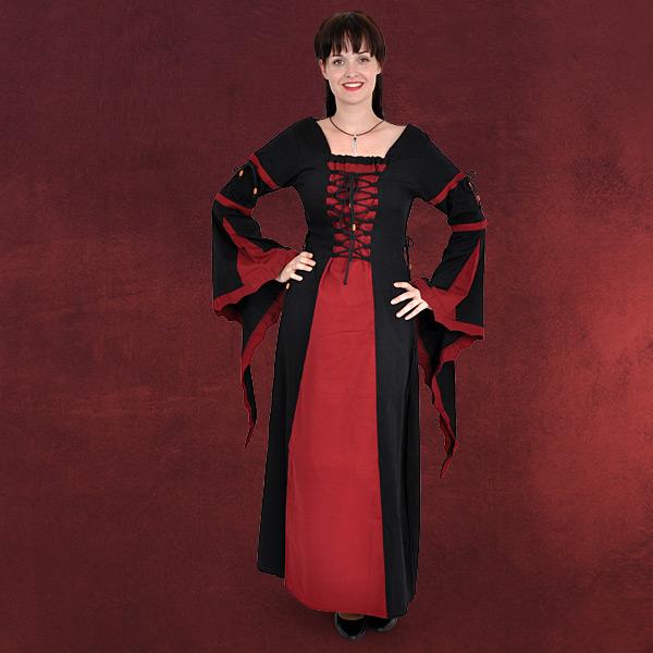 Leona - Mittelalterkleid schwarz-rot