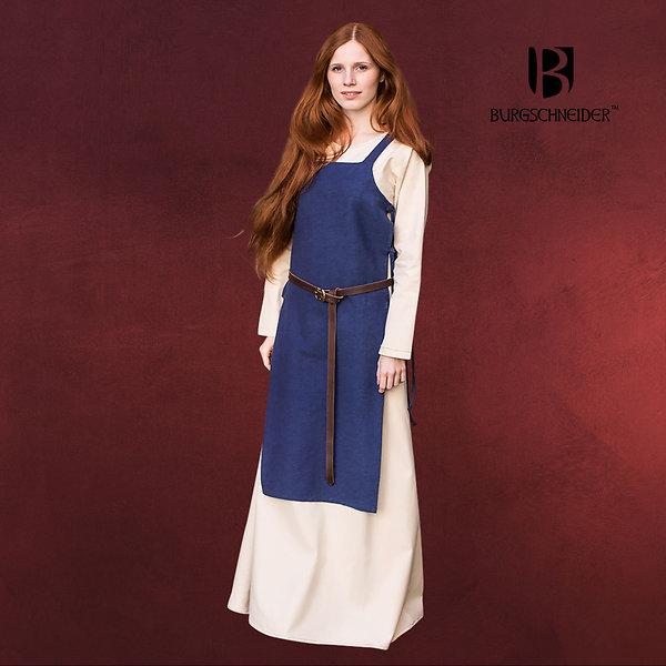 Mittelalter Überkleid Gyda blau