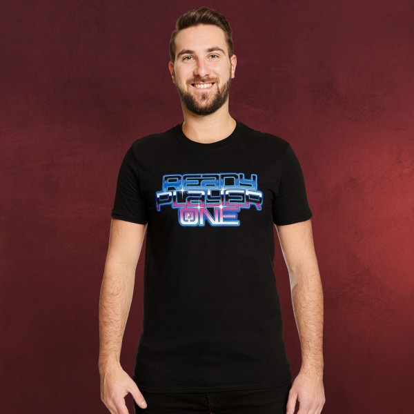 Ready Player One - Neon Logo T-Shirt schwarz