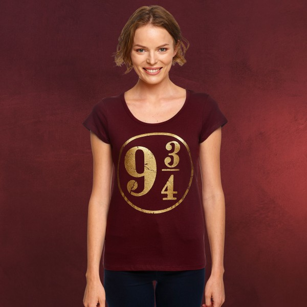 Harry Potter - Gleis 9 3/4 T-Shirt Damen rot
