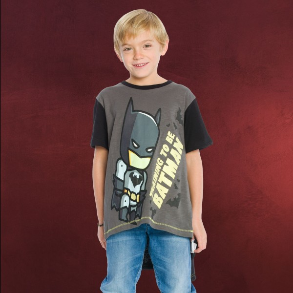 Batman - Kinder T-Shirt mit Cape schwarz