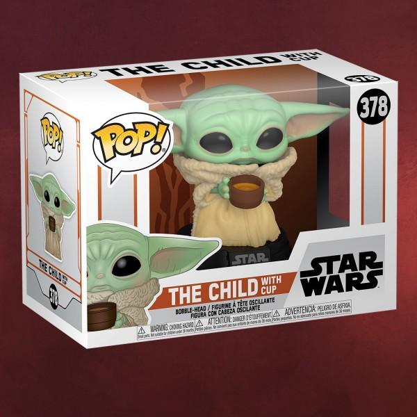 The Child mit Tasse Funko Pop Wackelkopf-Figur - Star Wars The Mandalorian