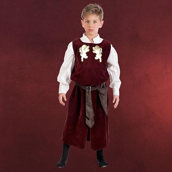 Mittelalterlicher Knappe - Kostüm Kinder