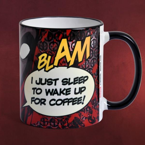 Deadpool - Wake Up For Coffee Tasse