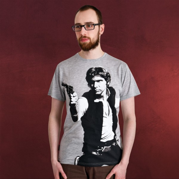 Star Wars - Han Solo Rebel T-Shirt grau