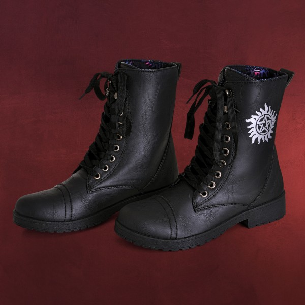 Supernatural - Anti Possession Symbol Boots Damen