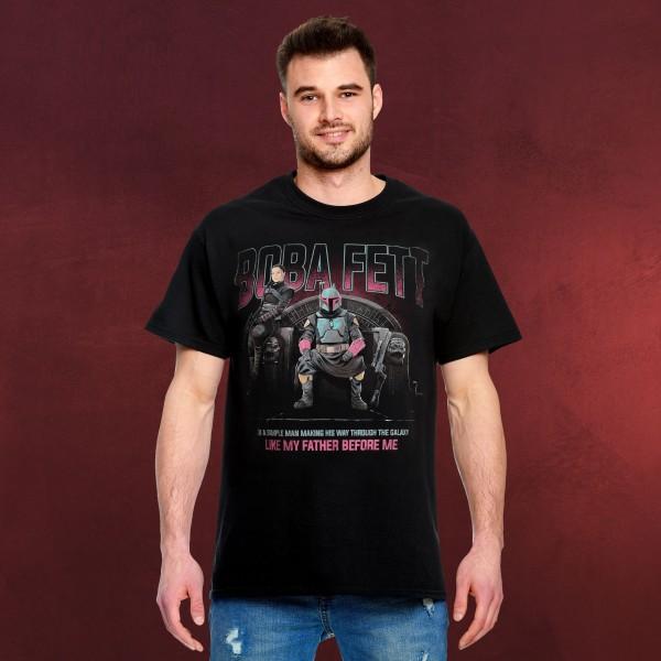 Boba Fett Throne T-Shirt schwarz - Star Wars Mandalorian