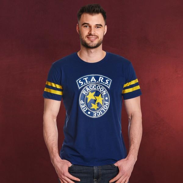 Resident Evil - S.T.A.R.S. Football T-Shirt blau