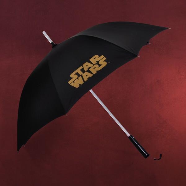 Star Wars - Lichtschwert Schirm mit Leuchtfunktion