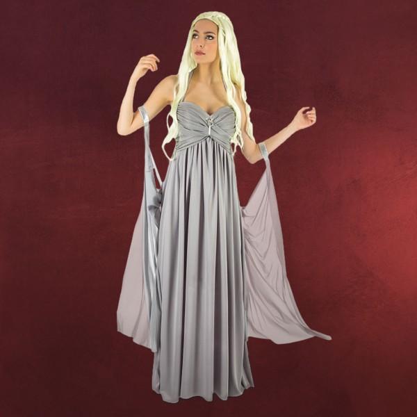 Mutter der Drachen Hochzeitskleid für Game of Thrones Fans grau