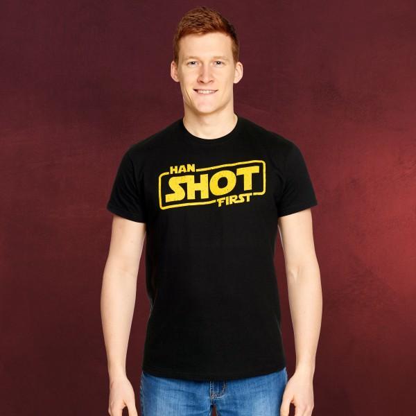 Han Shot First T-Shirt für Star Wars Fans