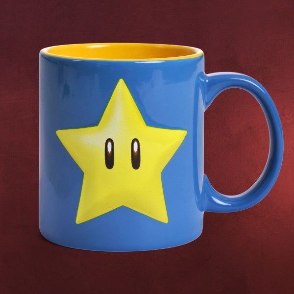 super mario star relief tasse xxl elbenwald. Black Bedroom Furniture Sets. Home Design Ideas