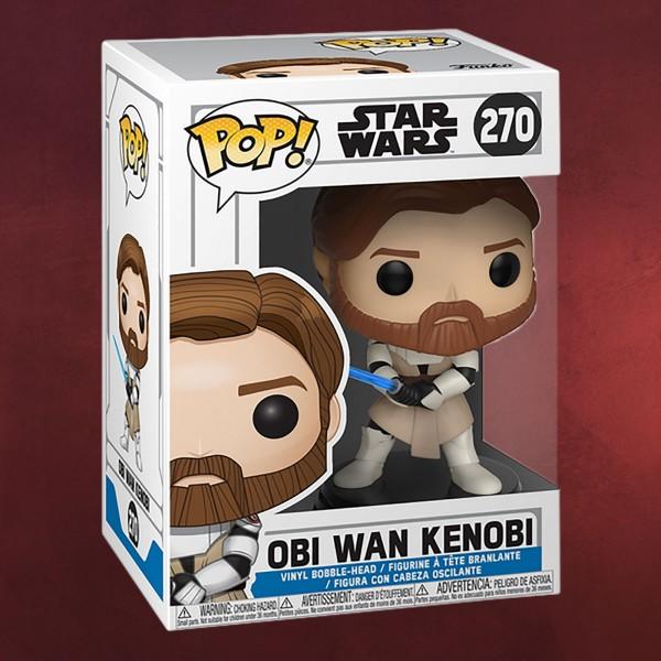 Star Wars - Clone Wars Obi Wan Kenobi Funko Pop Wackelkopf-Figur