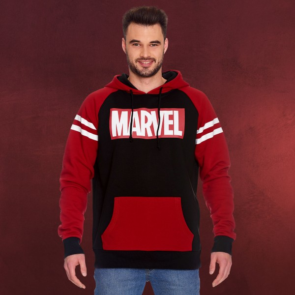 Marvel - Logo Hoodie rot-schwarz