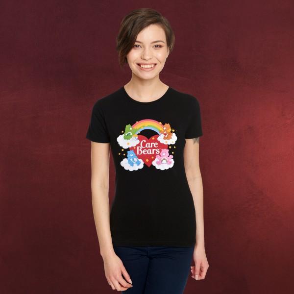 Die Glücksbärchis - Bears and Rainbow T-Shirt Damen schwarz