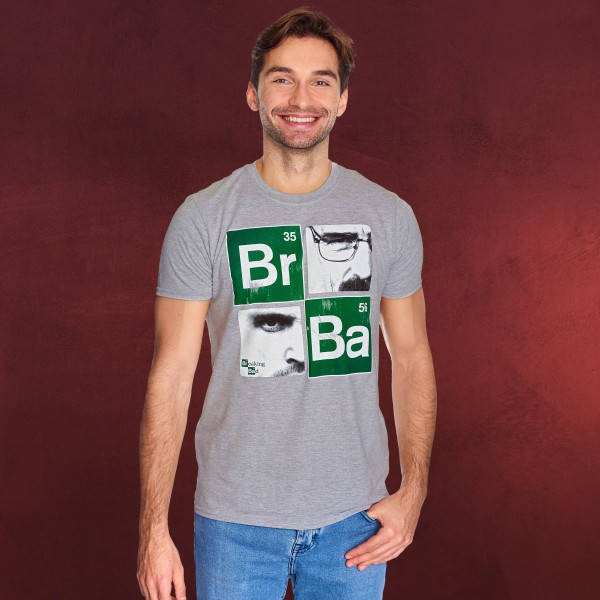 Breaking Bad - Squares T-Shirt grau