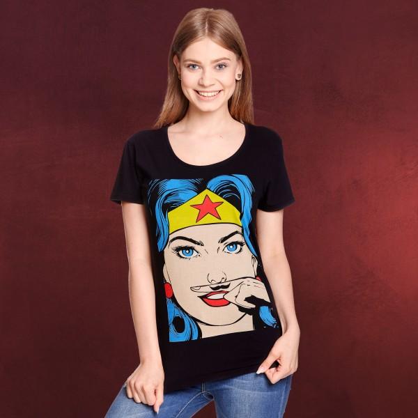 Wonder Woman - Mustache T-Shirt Damen