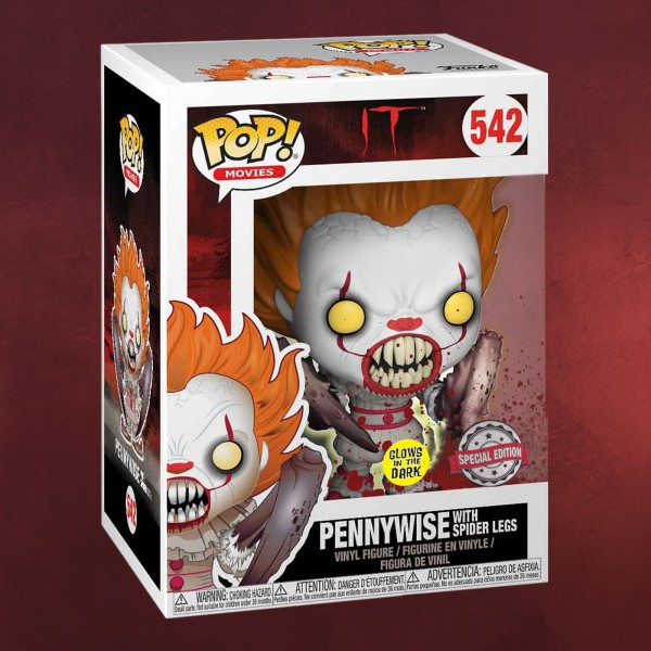 Stephen Kings ES - Pennywise Spider Legs Glow in the Dark Funko Pop Figur