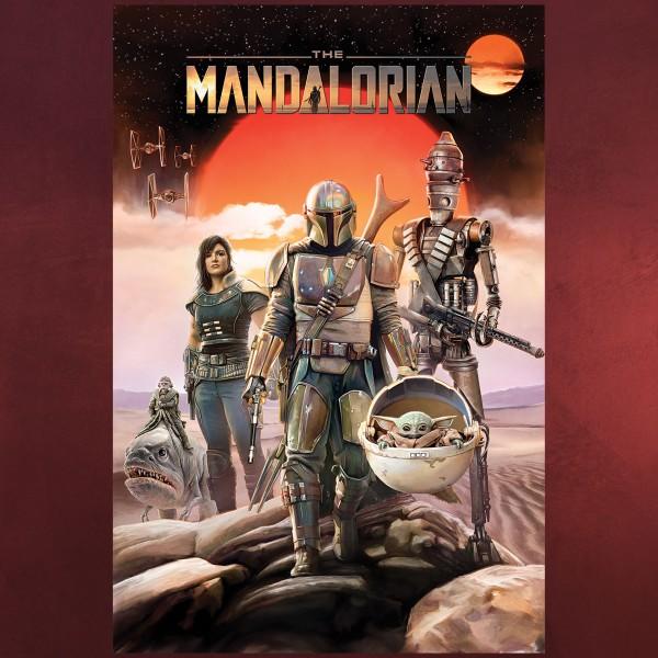 The Mandalorian Group Maxi Poster - Star Wars