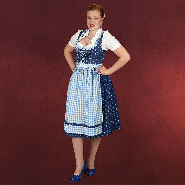 Dirndl Chrissi - Kostüm Damen blau weiß