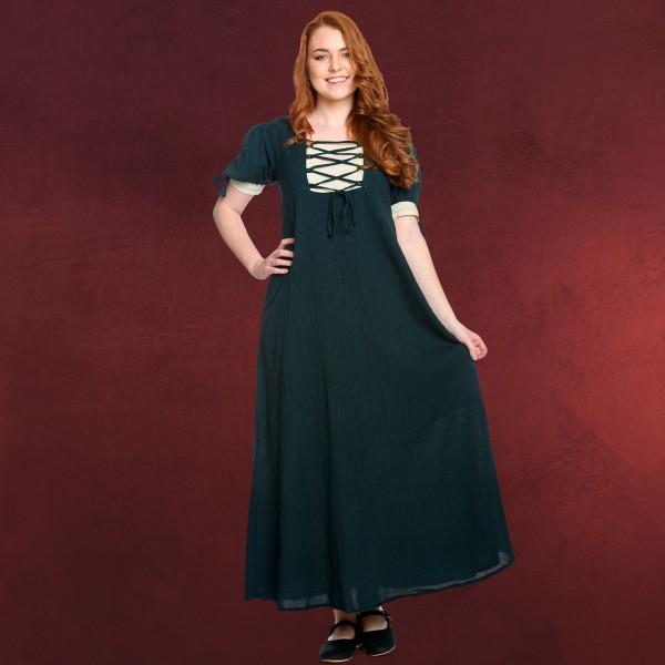 Mittelalter Sommer Kleid Lysa grün-beige