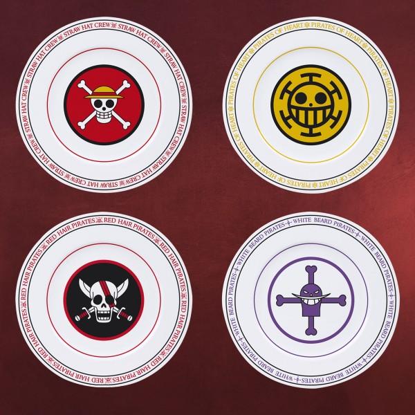 One Piece - Piratenbanden Logos Tellerset