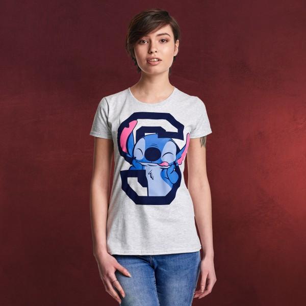 Lilo & Stitch - College T-Shirt Damen grau