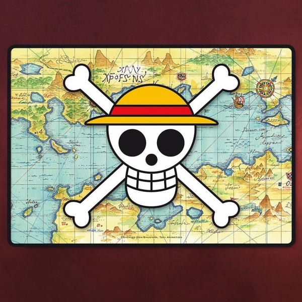 One Piece - Skull With Map Mousepad