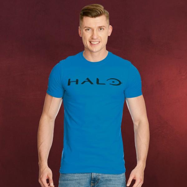 Halo - Logo T-Shirt blau
