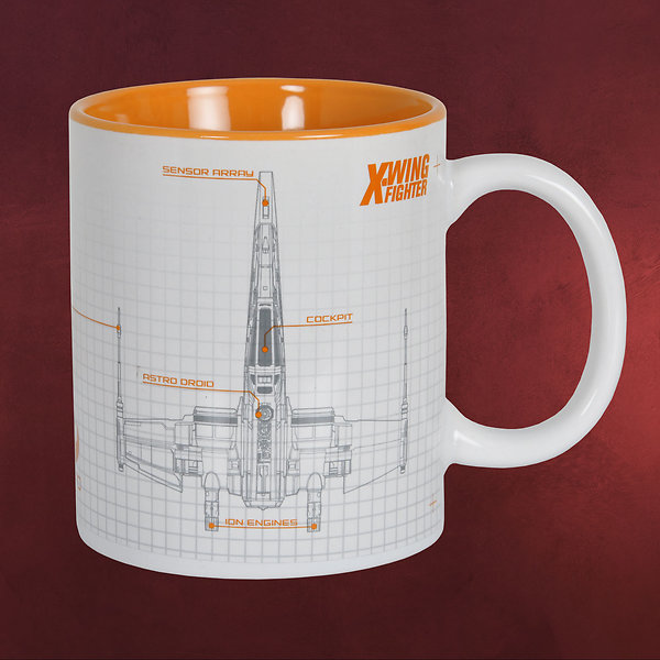Star Wars - X-Wing Fighter Tasse weiß