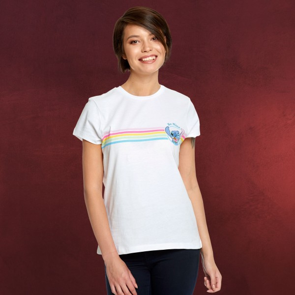 Lilo & Stitch - Be Nice T-Shirt Damen weiß