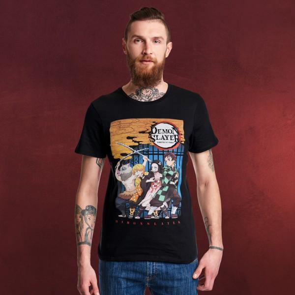 Demon Slayer - Character Poster T-Shirt schwarz